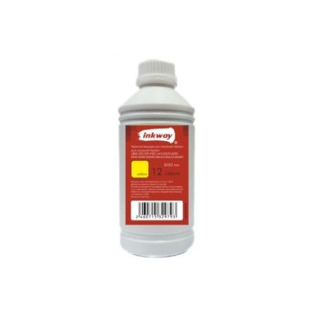 Чернила №12 для Epson Водные 500ML YELLOW (INKWAY)