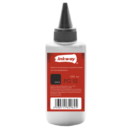 Чернила №12 Epson PG Пигмент 100ml Black (INKWAY)