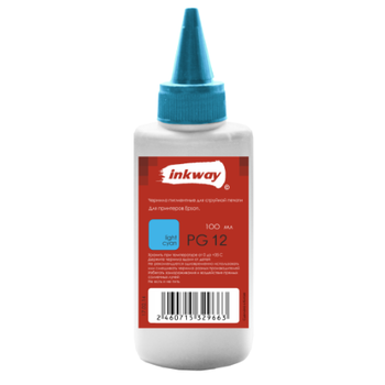 Чернила №12 Epson PG Пигмент 100ml Light Cyan (INKWAY)