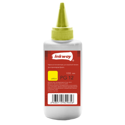 Чернила №12 Epson PG Пигмент 100ml Yellow (INKWAY)